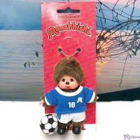 Monchhichi Plush Mascot Keychain Football Soccer Italy Boy 足球員 吊飾 EX200860