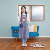 MA42868  Monchhichi Kitchen Fashion 92cm Apron Blue 大人 長 圍裙