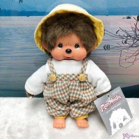 Monchhichi S Size Plush Farmer Fashion Jumper & Hat Boy 工人褲 + 帽 MC013