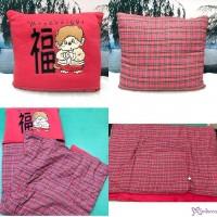 Monchhichi Cushion & Quilt 2 in 1 賀年 咕???? & 被子 250015