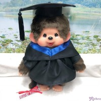 Monchhichi L Size Graduation Gown Dark Blue + Hat with 40cm MCC Boy 畢業 MCG-DBL