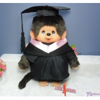 Monchhichi L Size Graduation Gown Pink + Hat with 40cm MCC Boy 畢業 MCG-PNK