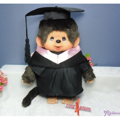 Monchhichi L Size Graduation Gown Pink + 畢業袍 自家製 畢業 公仔 MCG