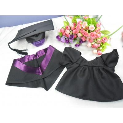 Monchhichi L Size Graduation Gown Purple + 畢業袍 自家製 畢業 公仔 MCG