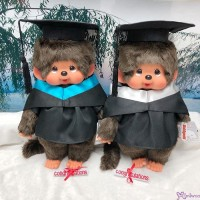 Monchhichi L Size Graduation Gown Blue + Hat with 40cm MCC Boy 畢業 MCG-BLE
