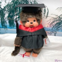 Monchhichi L Size Graduation Gown Red + Hat with 40cm MCC Boy 畢業 MCG-RED