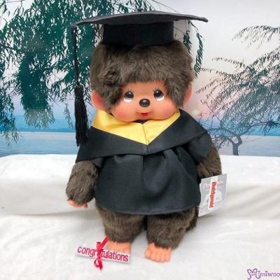 Monchhichi L Size Graduation Gown Yellow + Hat with 40cm MCC Boy 畢業 MCG-YEW
