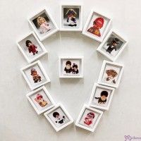 Monchhichi 6 x 5.2cm Magnet Photo (Set of 12pcs) 日本製  磁石相架 PL31-42