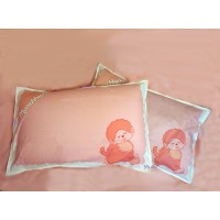 Monchhichi Pillow Case 純棉 印花枕袋 枕頭袋 (2pcs) PSC001PNK