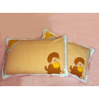 Monchhichi Pillow Case 純棉 印花枕袋 枕頭袋 (2pcs) PSC002BRN