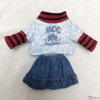 Monchhichi S Size Outfit School Top & Jeans Skirt 校園 上衣+牛仔裙 RT-40