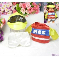 Monchhichi S Size Jockey Outfit (Helmet + Goggles) 日本競馬騎師 彩衣 (連帽及眼罩) RX017-RED