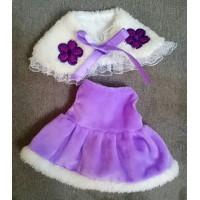 自家制 服裝 Monchhichi M Size Fashion Purpe Shawl + Dress Set RX025
