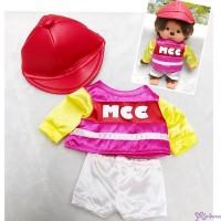 Monchhichi S Size Jockey Outfit (Helmet) 日本競馬騎師 彩衣 (連帽) RX035-RED