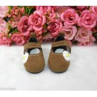Monchhichi S Size Yo-SD 1/6 bjd Velvet Flower Mary Jane Shoes Brown SHU070BRN