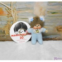 Monchhichi 7.5cm Plush Mascot Twinkle Mini Star Blue 吊飾 TW-BLE