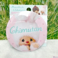 "Monchhichi Chimutan Chim Tan Bunny Badge  3"" 直徑 徽章 (日本製) UC0553"
