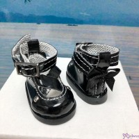 Yo SD OB Male 1/6 Bjd MCC S Size Doll Shoes Butterfly Bow Mary Jane BLACK YK09BLK