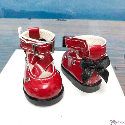 Yo SD OB Male 1/6 Bjd MCC S Size Doll Shoes Butterfly Bow Mary Jane RED YK09RED