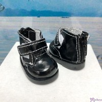 Yo SD OB Male 1/6 Bjd MCC S Size Doll Shoes Short Strapped Boots Black YK10BLK