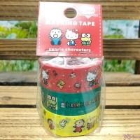Sanrio Hello Kitty Keroppi Minna No Tabo Masking Tape 15mm x 5 meter (3 Rolls) 日本製 公仔 膠紙 486427