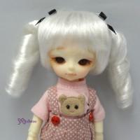 """WM21-2TS-SL Hujoo Baby 4-5"""" Heat Resistant Curl Braids Silver"""