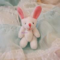 WAB003WHE 1/6 Momoko Blythe 4cm Mini Plush Bunny Rabbit White