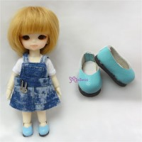SBB001BLE Hujoo Baby Obitsu 11cm Body Doll Step-in Shoes Blue