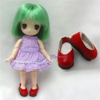 Hujoo Baby Obitsu 11cm Body Doll Step-in Shoes Red SBB001RED