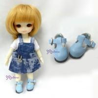 SBB002BLE Hujoo Baby Obitsu 11cm Body Maryjane Doll Shoes Blue