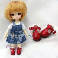 Middie B 2.2cm Doll Shoes Maryjane Red SBB002RED