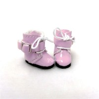 SBB006PNK Hujoo Baby Obitsu Middie Blythe Shoes Buckle Boot Pink