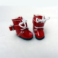 SBB006RED Hujoo Baby Obitsu 11cm Body Shoes Buckle Boots Red