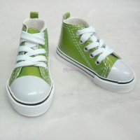 Super Dollfie SD13 Boy Shoes Metallic Sneaker Green SHB032GRN