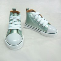 Super Dollfie SD13 Boy Shoes Metallic Sneaker Lt.Green SHB032LGN