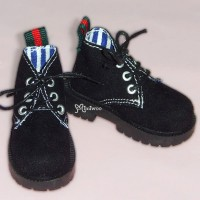 MSD DOD DOC 1/4 Dollfie Doll Velvet Hiking Shoes Black SHM042BLK