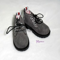 MSD DOD DOC 1/4 Dollfie Doll Velvet Hiking Shoes Grey SHM042GRY