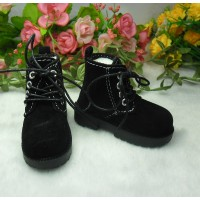 MSD Obitsu 60cm Doll High Hill Velvet Shoes Black SHM075BLK