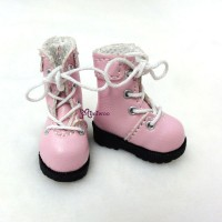 "SHP002PNK 12"" Blythe Lati Yellow Basic Doll Shoes Boots Pink"