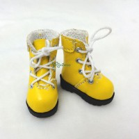 "SHP002YEW 12"" Blythe Lati Yellow Basic Doll Shoes Boots Yellow"