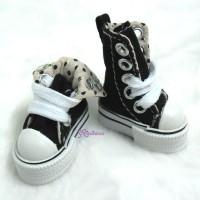 SHP092BLK Obitsu Taeyang Male Hujoo Folded Sneaker Shoes Black