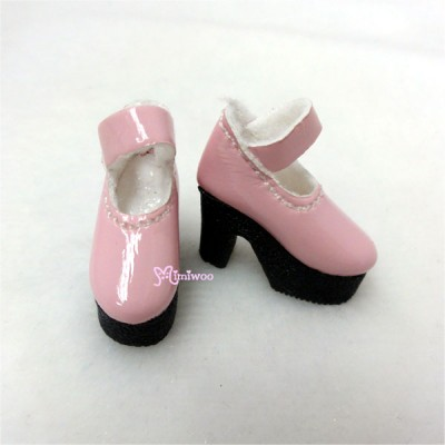 1/6 Bjd Doll Shoes High Heel Boots Pink