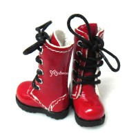 SHP118RED Blythe Pullip Momoko Doll Shoes Long Boots Red