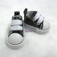 Blythe Pullip PU Leather MICRO Shoes Sneaker Black SHP125BLK