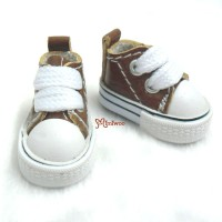"""SHP125BRN 12"""" Blythe Pullip PU Leather MICRO Shoes Sneaker Brown"""