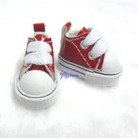 Blythe Pullip PU Leather MICRO Shoes Sneaker Red SHP125RED