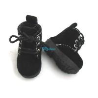 Blythe Pullip Momoko Obitsu Shoes Velvet Boots Black SHP187BLK