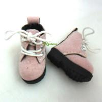 SHP187PNK Blythe Pullip Momoko Obitsu Shoes Velvet Boots Pink