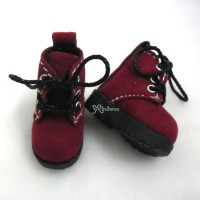 1/6 Bjd Doll Shoes Velvet Boots Red SHP187RED