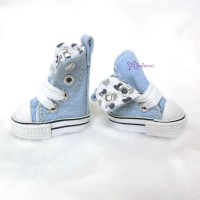 1/6 Bjd Neo B Denim MICRO Shoes Folded Boots Blue SHP188BLE